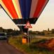 Ballon Landung bei einem Misthaufen